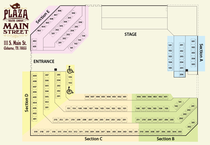 Main StreetSeating Chart
